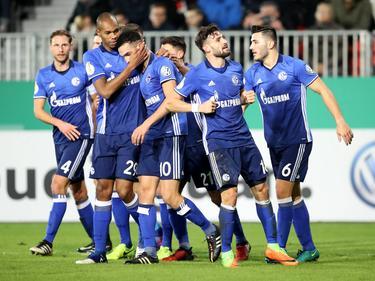 Der FC Schalke hat sich im Achtelfinale problemlos gegen Sandhausen durchgesetzt