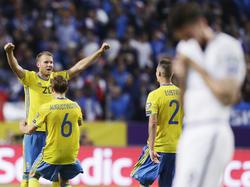 Schweden feiert den Last-Minute-Sieg gegen Frankreich