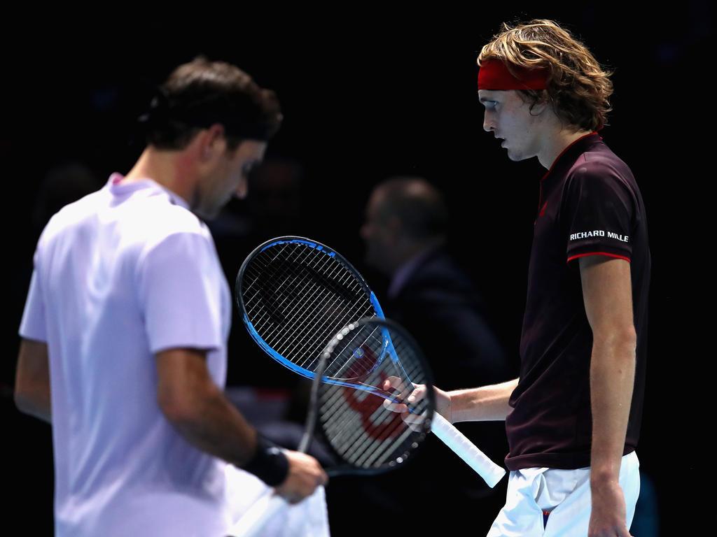 Alex Zverev musste sich im Generationenduell Roger Federer geschlagen geben