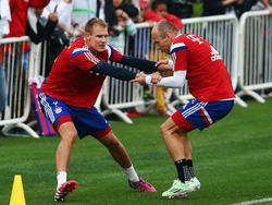 Holger Badstuber und Arjen Robben sind zurück im Training