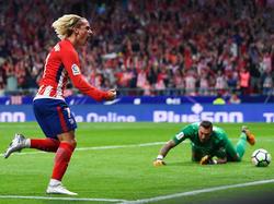 Historischer Treffer: Antoine Griezmann schoss das erste Tor im neuen Atlético-Stadion