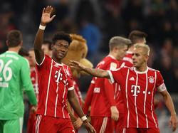 David Alaba (l.) und Rafinha fehlen dem FC Bayern München in Anderlecht
