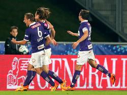 Die Wiener Austria jubelt über den Einzug ins ÖFB-Cup-Finale