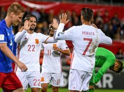 Morata podría perderse los encuentros de clasificación para el Mundial. (Foto: Imago)