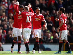 Marcus Rashford (l.) hat Aston Villas Abstieg besiegelt