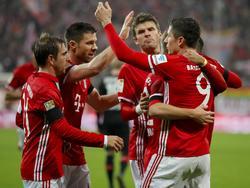 Die versammelten Bayern-Stars stehen auch der Liste zur möglichen Weltauswahl
