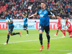 Sandro Wagner ist einer der treffsichersten deutschen Stürmer der Liga