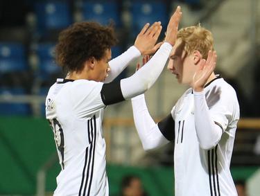Julian Brandt (r.) und Leroy Sané hoffen auf die EM