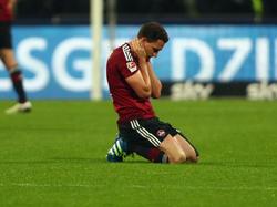 Bei den Nürnbergern war die Stimmung nach dem Spiel am Boden