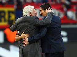 Rudi Völler (l.) und Co. gehen mit hohen Zielen in die Saison