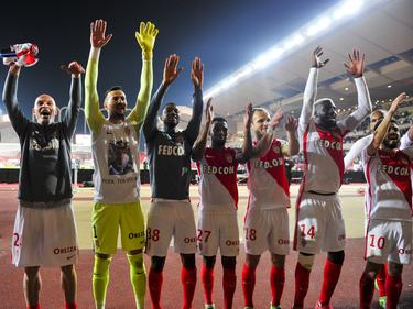 Celebración en el Louis II del título de Ligue 1 (Foto: Getty)