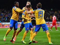 Eintracht Braunschweig feierte einen Last-Minute-Sieg gegen Würburg