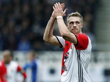 Nicolai Jørgensen tijdens sc Heerenveen - Feyenoord. (19-03-2017)