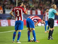 Diego Godín (r.) wird vorerst seiner Mannschaft fehlen