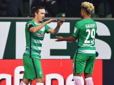 Bremens Max Kruse (l.) zeigte eine gute Leistung gegen den FC Ingolstadt