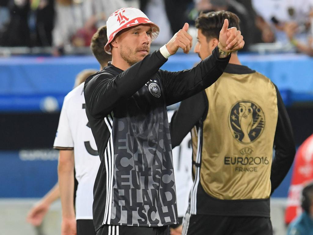 Lukas Podolski verabschiedet sich aus der deutschen Nationalmannschaft