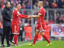 Franck Ribéry (l.) und Arjen Robben haben dem Bayern-Spiel über Jahre ihren Stempel aufgedrückt