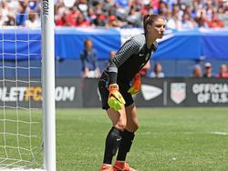 Hope Solo darf vorerst einige Zeit nicht das Tor der US-Fußballerinnen hüten
