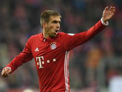 Bayern-Kapitän Philipp Lahm war mit der Leistung seines Teams nicht zufrieden