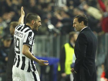 Leonardo Bonucci (l.) und Massimiliano Allegri waren nicht die besten Freunde