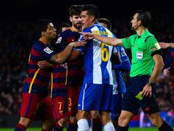 Im Hinspiel des Copa-de-Rey-Achtefinales ging es bereits rund in Barcelona