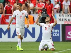 Jakub Błaszczykowski (r.) und Robert Lewandowski wollen mit Polen ins Halbfinale