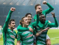 Werder Bremen bejubelt einen Auswärtsdreier in Berlin