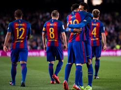 Messi brilló contra el Valencia con otro doblete. (Foto: Getty)