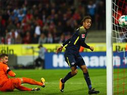 Yussuf Poulsen erzielte den zweiten Treffer für RB Leipzig in Köln