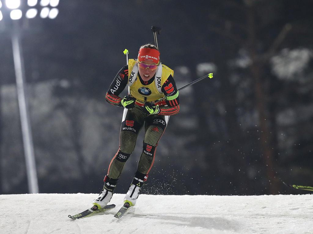 Laura Dahlmeier blickt dem Rennen in Hochfilzen entgegen