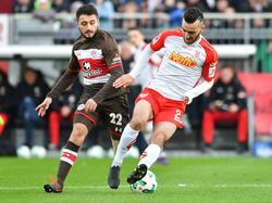 Keinen Sieger gab es zwischen St. Pauli und Regensburg