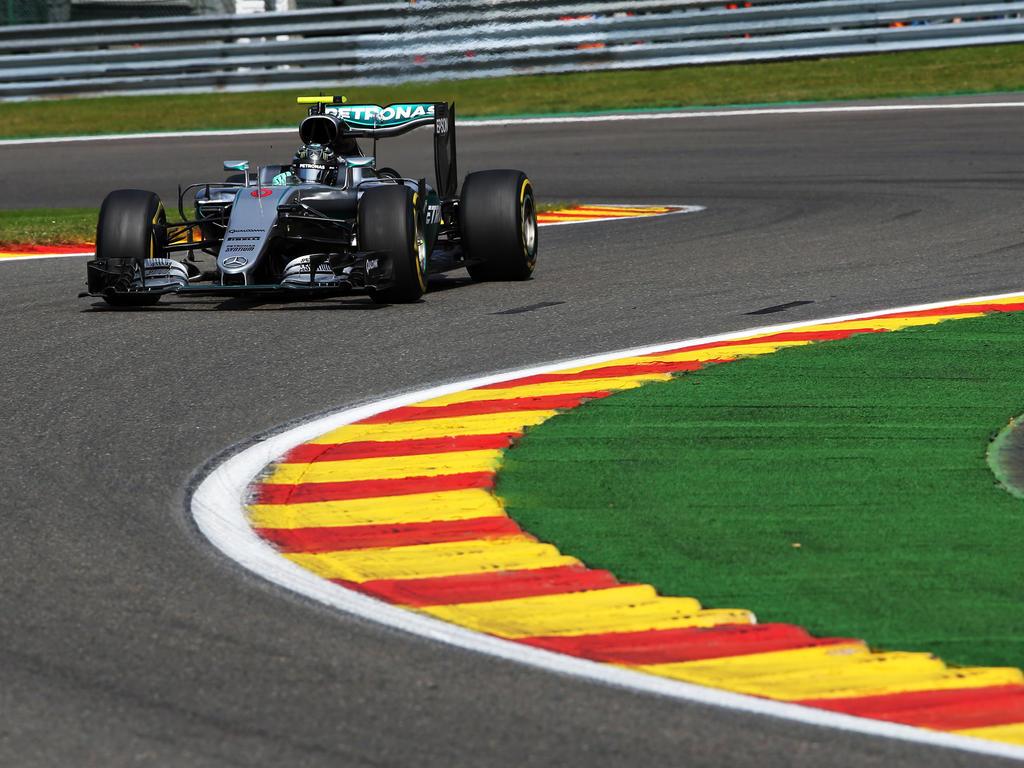 Nico Rosberg will sich auf der Rennstrecke von Spa-Francorchamps unbedingt die Pole holen