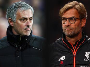 José Mourinho (l.)  will gegen Jürgen Klopp weiter siegen
