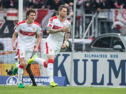 Daniel Ginczek und der VfB feierten einen späten Sieg gegen den Club aus Nürnberg