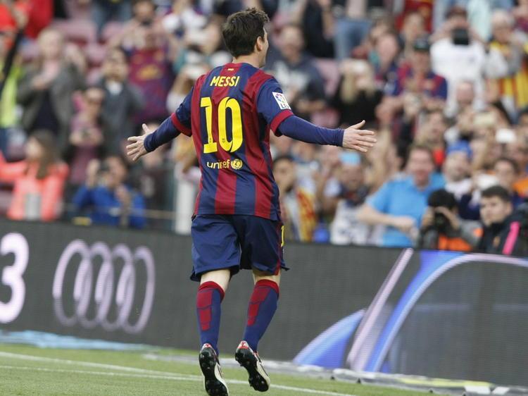 Barcelonas Star Lionel Messi erzielte zwei Treffer beim 3:0-Sieg gegen die Bayern