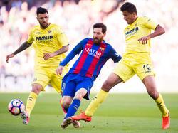 Messi marcó un doblete contra el Villarreal. (Foto: Getty)