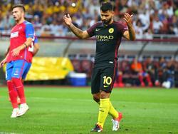 Kun Agüero hatte trotz zwei verschossener Elfmeter Grund zum Jubeln