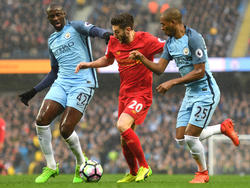 Instante del City-Liverpool del domingo. (Foto: Getty)