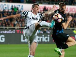 Mario Mandžukić (l.) und Juventus kamen nicht über ein Remis hinaus