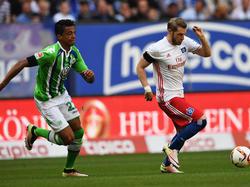 Aaron Hunt (r.) steht beim HSV vor der Rückkehr