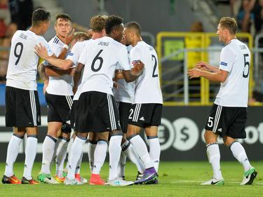 Auch gegen Italien wollen die deutschen U21-Kicker wieder ausgelassen jubeln