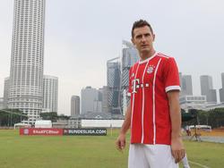 Miroslav Klose war zuletzt auch auf Marketing-Reise mit den Bayern