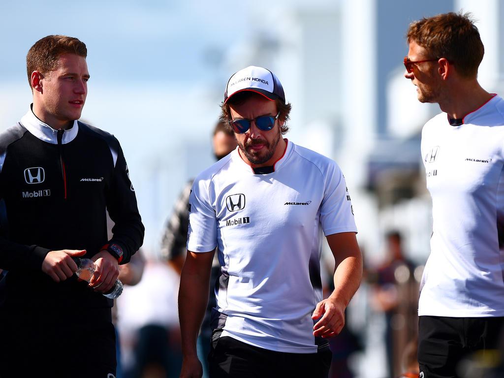 Jenson Button (r.) wird sein McLaren-Cockpit für Stoffel Vandoorne (l.) räumen
