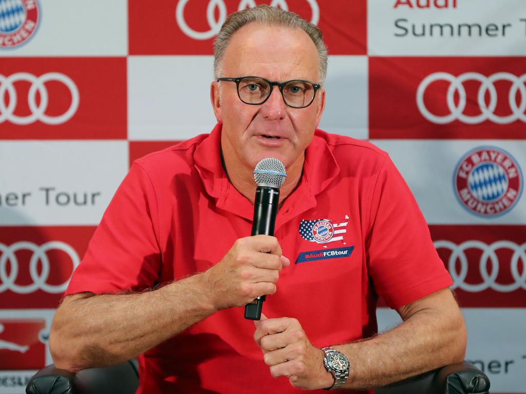 Karl-Heinz Rummenigge erläuterte die Ziel des Bayern-Trips nach Fernost