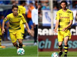 Emre Mor (l.) und Neven Subotić spielen keine große Rolle in Dortmund