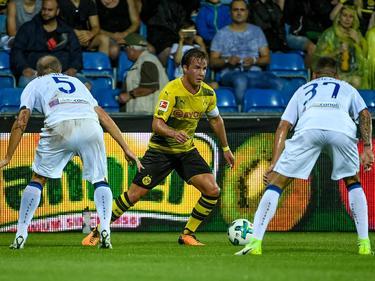 Aushilfs-Kapitän Mario Götze konnte die Dortmunder Niederlage nicht verhindern