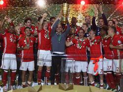 Bayern München feiert den Pokalsieg