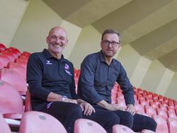 Stefan Emmerling (l) freut sich auf seine neue Aufgabe beim FC