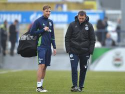Höwedes (l.) ist im Trainingslager von Schalke 04 angekommen
