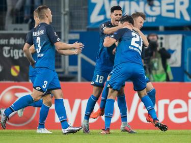 Die TSG Hoffenheim freut sich über die ersten drei Punkte in der Europa League